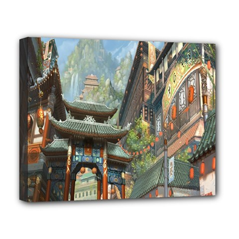 Japanese Art Painting Fantasy Deluxe Canvas 20  X 16