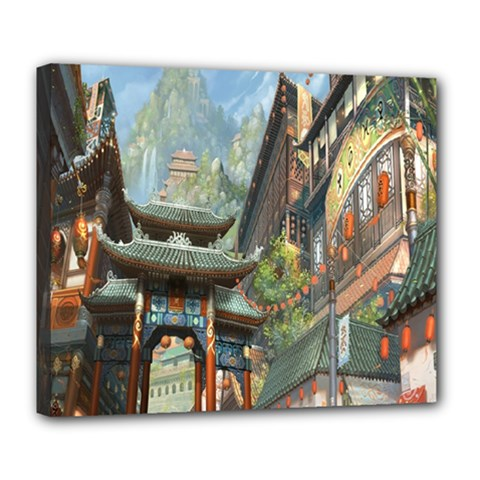 Japanese Art Painting Fantasy Deluxe Canvas 24  X 20
