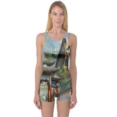 Japanese Art Painting Fantasy One Piece Boyleg Swimsuit