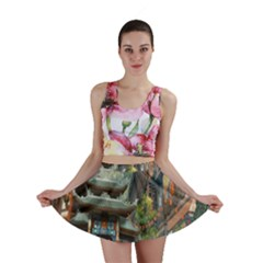 Japanese Art Painting Fantasy Mini Skirt