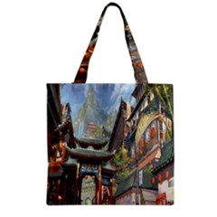 Japanese Art Painting Fantasy Grocery Tote Bag