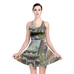 Japanese Art Painting Fantasy Reversible Skater Dress