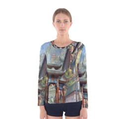 Japanese Art Painting Fantasy Women s Long Sleeve Tee