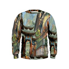 Japanese Art Painting Fantasy Kids  Sweatshirt