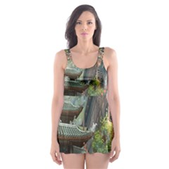 Japanese Art Painting Fantasy Skater Dress Swimsuit