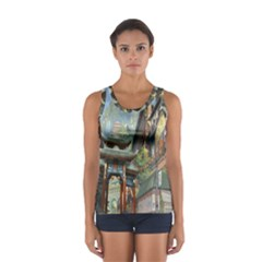 Japanese Art Painting Fantasy Women s Sport Tank Top