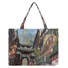 Japanese Art Painting Fantasy Medium Zipper Tote Bag