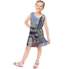 Japanese Art Painting Fantasy Kids  Tunic Dress
