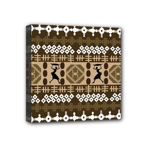 African Vector Patterns Mini Canvas 4  X 4