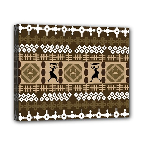 African Vector Patterns Canvas 10  x 8