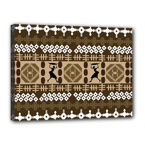 African Vector Patterns Canvas 16  X 12
