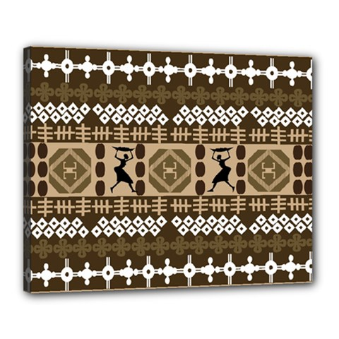 African Vector Patterns Canvas 20  X 16