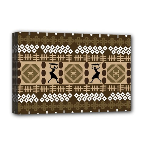 African Vector Patterns Deluxe Canvas 18  X 12