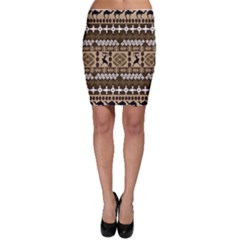 African Vector Patterns Bodycon Skirt
