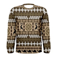African Vector Patterns Men s Long Sleeve Tee