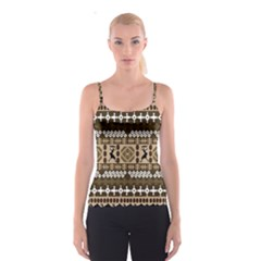 African Vector Patterns Spaghetti Strap Top