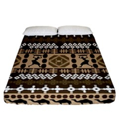 African Vector Patterns Fitted Sheet (california King Size)