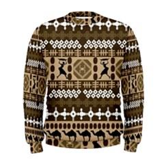 African Vector Patterns Men s Sweatshirt