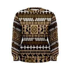 African Vector Patterns Women s Sweatshirt