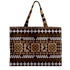 African Vector Patterns Zipper Mini Tote Bag