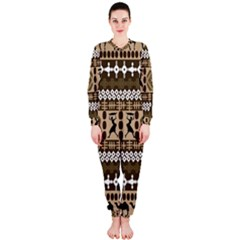 African Vector Patterns Onepiece Jumpsuit (ladies)