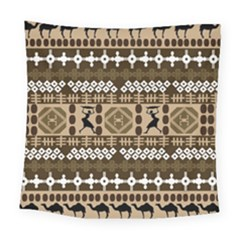 African Vector Patterns Square Tapestry (large)