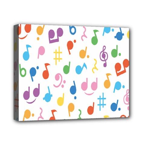 Notes Tone Music Purple Orange Yellow Pink Blue Canvas 10  x 8
