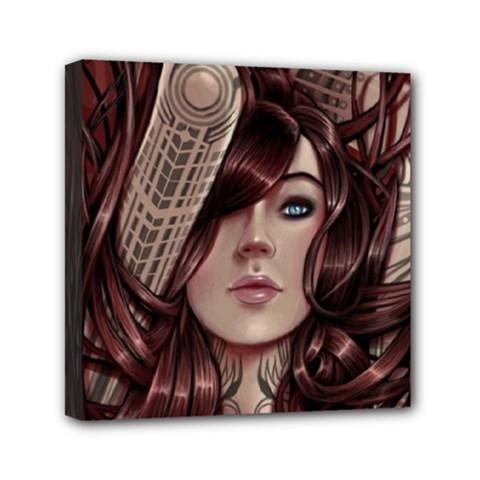 Beautiful Women Fantasy Art Mini Canvas 6  X 6