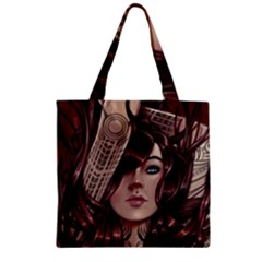 Beautiful Women Fantasy Art Zipper Grocery Tote Bag