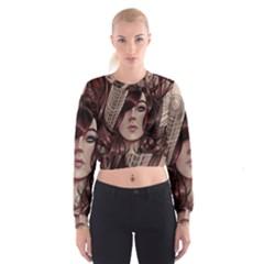 Beautiful Women Fantasy Art Women s Cropped Sweatshirt