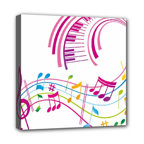 Musical Notes Pink Mini Canvas 8  x 8