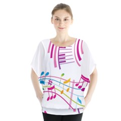 Musical Notes Pink Blouse