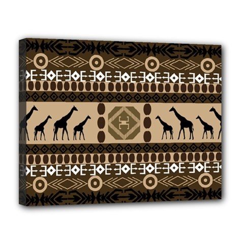 African Vector Patterns  Canvas 14  X 11