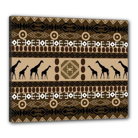 African Vector Patterns  Canvas 24  x 20