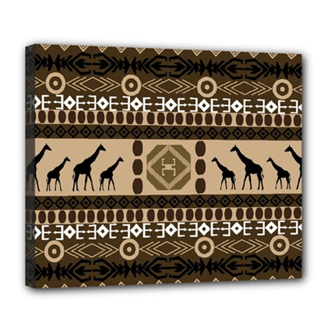 African Vector Patterns  Deluxe Canvas 24  x 20