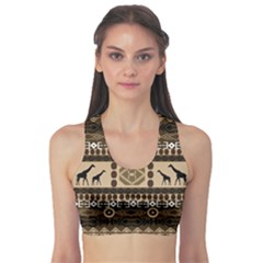 African Vector Patterns  Sports Bra