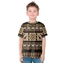 African Vector Patterns  Kids  Cotton Tee
