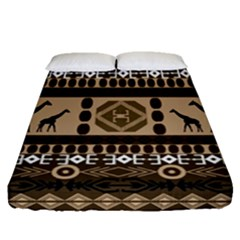 African Vector Patterns  Fitted Sheet (queen Size)