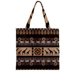 African Vector Patterns  Zipper Grocery Tote Bag