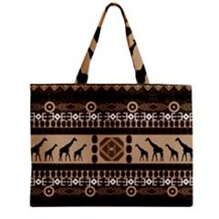 African Vector Patterns  Zipper Mini Tote Bag