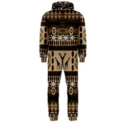 African Vector Patterns  Hooded Jumpsuit (men)