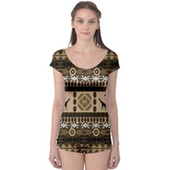 African Vector Patterns  Boyleg Leotard