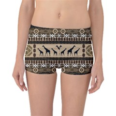 African Vector Patterns  Boyleg Bikini Bottoms