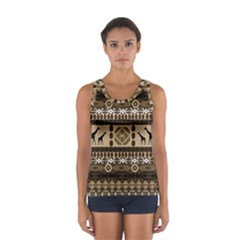 African Vector Patterns  Women s Sport Tank Top