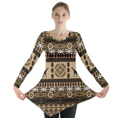 African Vector Patterns  Long Sleeve Tunic
