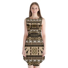 African Vector Patterns  Sleeveless Chiffon Dress