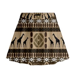 African Vector Patterns  Mini Flare Skirt
