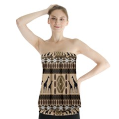 African Vector Patterns  Strapless Top