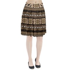African Vector Patterns  Pleated Skirt
