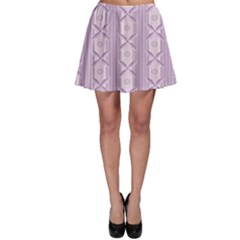 Flower Star Purple Skater Skirt